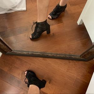 Shoes - Block heel cutout booties